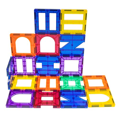PicassoTiles¨ PT42 Designer Artistry Kit 42pcs Set Magnet Building Tiles Clear Color Magnetic 3D Building Block - Creativity Beyond Imagination! Educational, Inspirational, Conventional, Recreational (Presents Set Designer)