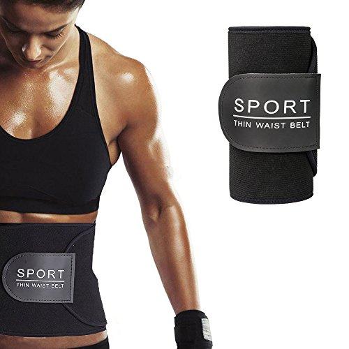 WloveTravel Waist Trimmer, Workout Slimmer Kit Premium Weight Loss Wrap, Sweat Exercise Trainer Belt, Lumbar Support Enhancer Body Shaper, Men & Women