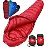 Hyke & Byke 650 Fill Power Down Sleeping Bag for Backpacking – Quandary 15 Degree F