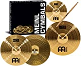 #10: Meinl Cymbals HCS1314+10S HCS Pack Cymbal Box Set with 13-Inch Hi Hats, 14-Inch Crash, Plus a FREE Splash Cymbal, FREE Sticks, and FREE Lessons