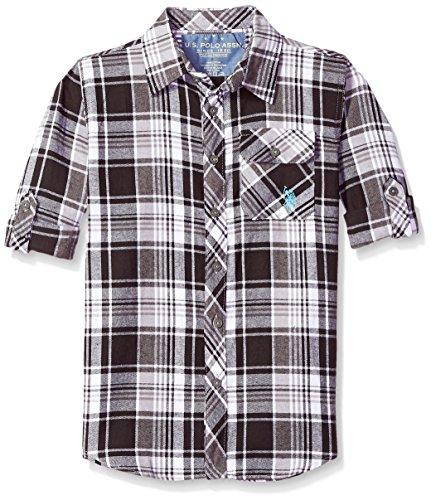 U.S. Polo Assn. Boys Big Long Sleeve Plaid Shirt