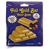Beistle 57495 12-Pack Foil Gold Bar Favor Boxes, 3-Inch by 1-1/2-Inch by-3/4-Inch