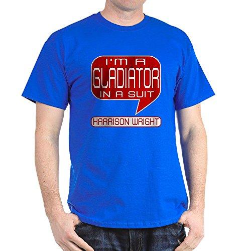 (CafePress Harrison Gladiator in Suit Dark T-Shirt - 100% Cotton T-Shirt)