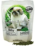Sherwood Pet Health Rabbit Food, Baby by, 4.5 lb. - (Soy, Corn & Wheat-free) - 4.5 lb. (Vet Used) (4.5 lb)