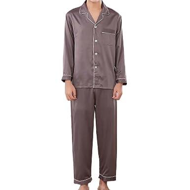 4cf515c8f685f0 Amazon   メンズ ペアパジャマ 前開き 長袖 長ズボン オールシーズン ナイトウェア パジャマ 大人用   パジャマ 通販
