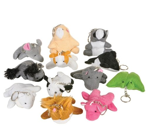3'' ANIMAL BEAN BAG KEYCHAIN, Case of 480