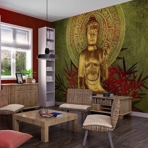 Wallpaper 300x231 cm non woven murals wall mural for Buddha mural wallpaper