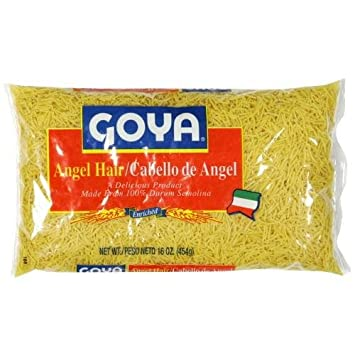 Amazon Com Goya Angel Hair Pasta Vemicelli 16 Ounce Pack Of 20