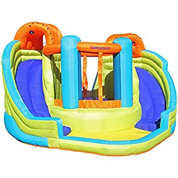 sportspower double slide u0026 bounce inflatable water slide - Blow Up Water Slides