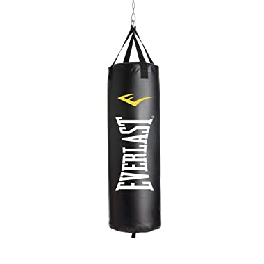 Everlast P00001222 40LB Heavy Bag Heavy Punching Bags, Black/White,