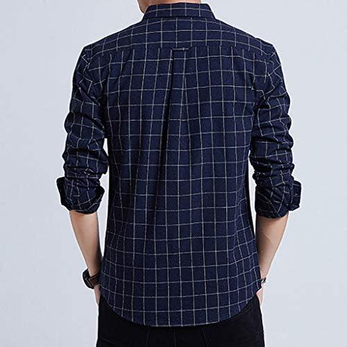 PARVAL Hombre Camisa de Cuadros para Hombre Camisa Casual Camisa ...