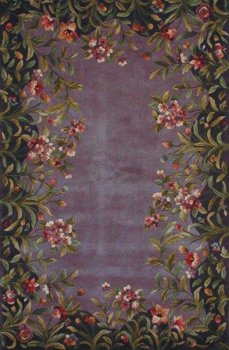 Emerald Lavender Garden Contemporary Rug Size: 2'6