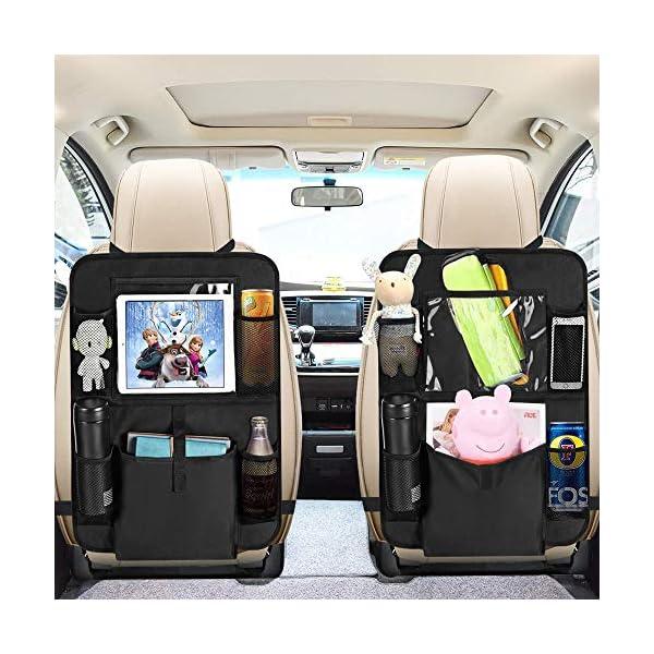 51DjJgsUpkL Auto Rückenlehnenschutz, opamoo 2 Stück Auto Rücksitz Organizer für Kinder, Große Taschen und iPad-/Tablet-Fach…