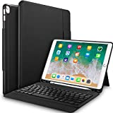 IVSO Apple ipad pro 10.5 Tablet Case with Keyboard - Ultra Lightweight Shockproof One-Piece Keyboard Stand Case/Cover with Pencil Slot for Apple ipad pro 10.5 Tablet (Black)