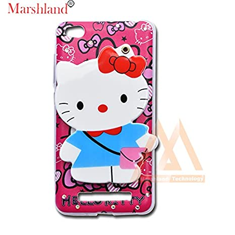 cheaper 36ee8 ea21d Marshland Redmi 4A Back Cover for Girls 3D Hello Kitty: Amazon.in ...