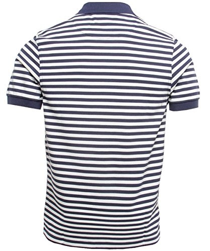Fred Perry Slim Fit Striped Polo Shirt XL Navy