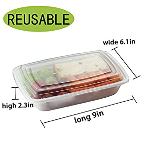 Iu0027ve really enjoyed using these containers. The great for filling them up putting them in the freezer and being able to pull them out and popped them in a ...  sc 1 st  Travel to-go food containers Blog & GLOUE Environmental Friendly Food Containers Box - Freezer Friendly ...