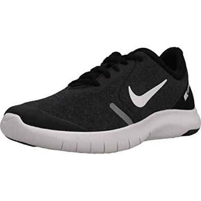 3fa52ab2c8fd7 Nike Boy s Flex Experience RN 8 Running Shoe Black White Cool Grey Reflect