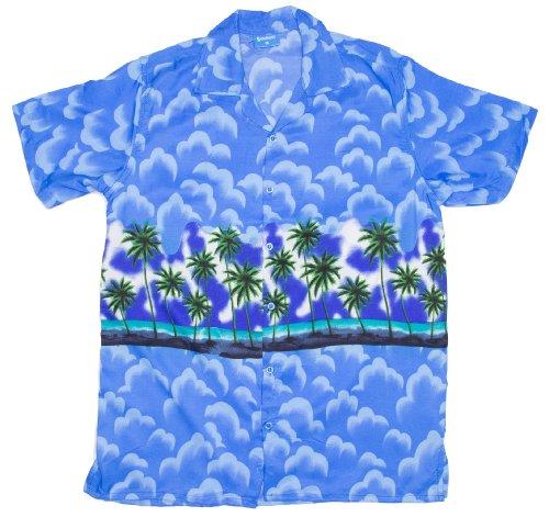 ragstock-mens-cloud-and-palm-tree-print-hawaiian-aloha-shirt-blue-xx-large