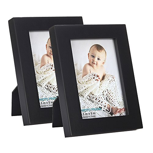 RPJC 4×6 inch Picture Frame Made of Solid Wood and High Definition Glass for Table Disply and Wall Mounting Photo Frame