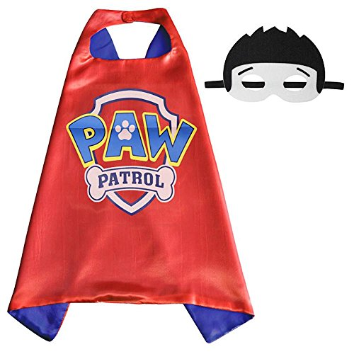 Over 35+ Styles Superhero Halloween Party Cape and Mask Set for Kids (Paw Patrol) (Baby Devil Costume)