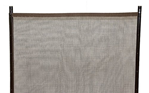 Sentry Safety Pool Fence Visiguard 4' Tall 12' Long Removable Child Barrier Pool Safety Mesh Fence (Brown) by Sentry Safety Pool Fence (Image #1)