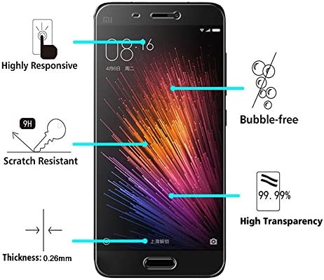 2-Unidades] Xiaomi Mi 5 Protector de Pantalla, Y-ouni Cristal ...