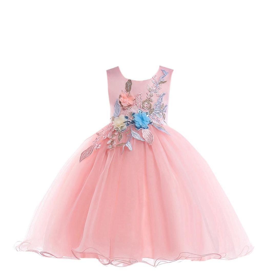 2018 Newest Girls Dress Sonnena Flower Baby Girls Princess Tutu Dress Print Sleeveless Formal Clothing Dresses