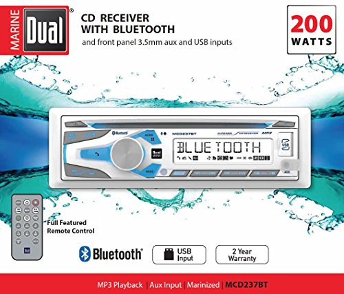 Dual Electronics 1DIN MRN CD AM/FM RCVR/BT MCD237BT by Dual Electronics (Image #1)