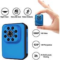 MILALOKO Mini Camera Small Camera 1080P HD Max Up To 32GB Storage Portable Sports Camera with IR Night Vision,Digital Video Photos Supports Motion Detection, Nanny Cam