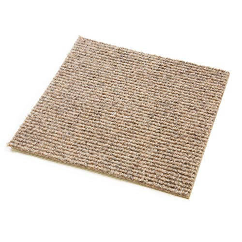 Incstores BerberSand Berber Carpet Tiles, Sand (Pack of 20) ()