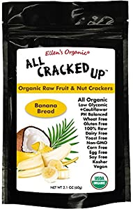 All Cracked Up Organic Raw Fruit & Nut Crackers Superfood Snacks Banana Bread