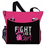 "Fight Like a Girl Boxing Glove Tote Bag ""Dakota"" (Hot Pink)"