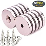 KYGNE 10 PACK Neodymium Disc Countersunk Hole Magnets Review and Comparison
