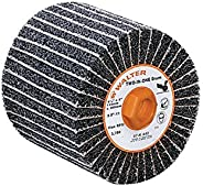 "Walter Two-in-One Linear Finishing Abrasive Drum, 3800 Maximum RPM, 4-1/2"" Diameter x 4"" Width, 5/8&"