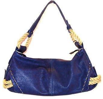 2e7a7f18e335 Amazon.com: Innue Navy Blue Leather Hobo Satchel Bag Handbag: Clothing