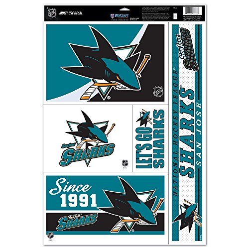 17' Window Cling Decal (NHL San Jose Sharks 11'' x 17'' Ultra Decal Window Clings Sheet)