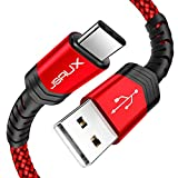 USB Type C Cable,JSAUX(2-Pack 6.6FT) USB A 2.0 to USB-C Fast Charger Nylon Braided USB C Cable compatible Samsung Galaxy S10 S9 S8 plus Note 9 8,Moto Z,LG V30 V20 G5,Nintendo Switch,USB C devices(Red): more info