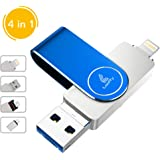Looffy USB Flash Drive, Photo Stick for iPhone, 128GB External Storage Memory iOS Stick Photostick Mobile, Thumb Drive…