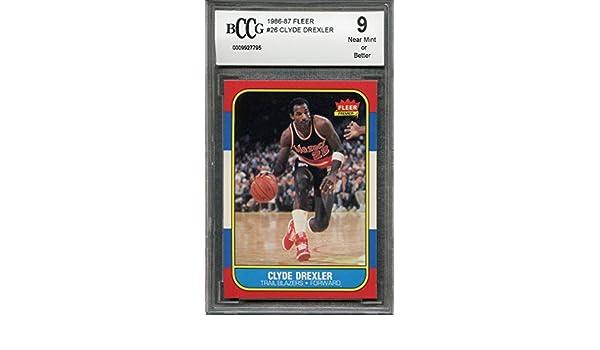 50-50 CENTERED BGS BCCG 9 Graded Card 1986-87 fleer #26 CLYDE DREXLER blazers rookie card