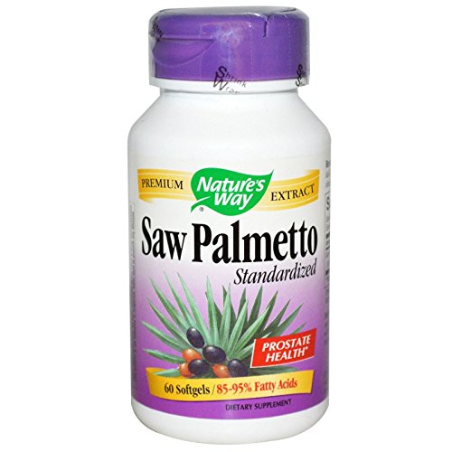 NATURE'S WAY SAW PALMETTO EXTRACT, 60 SGEL-  3  Pack