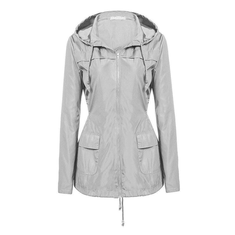 Ulanda_Women Coat OUTERWEAR レディース Large グレー B07JP19QXT