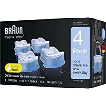 Braun Clean & Renew Refill Cartridges CCR, 4 Count (Packaging May Vary)