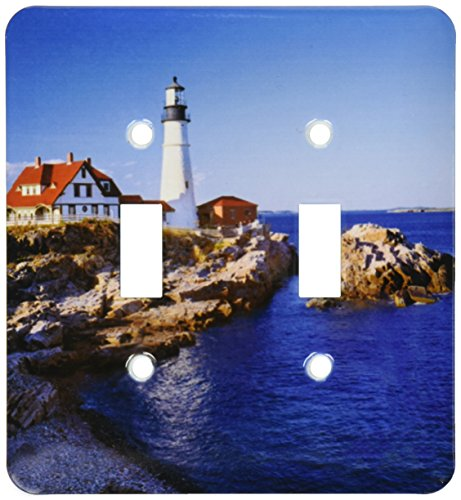 3dRose LLC lsp_90758_2 Maine, Portland Head Lighthouse Us20 Rer0011 Ric Ergenbright Double Toggle - Outlets Portland Maine