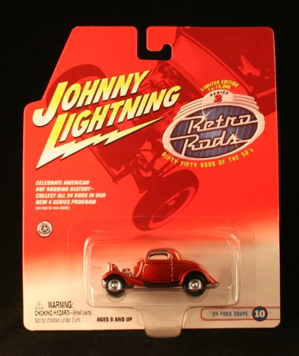 '34 FORD COUPE #10 * ORANGE * 2002 Johnny Lightning RETRO RODS Series 2 Limited Edition Die Cast Vehicle * 1 of only 15,000 ()