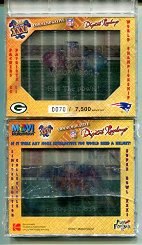 Green Bay Packers 35 New England Patriots 21 (Football Card) 1997 Movi Motionvision Digital Replays Super Bowl XXXI Motion ()