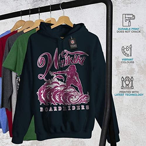Vintage Casual Hooded Sweatshirt Wellcoda America Football Team Womens Hoodie