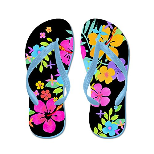 CafePress Tropical Flowers Flops Sandals