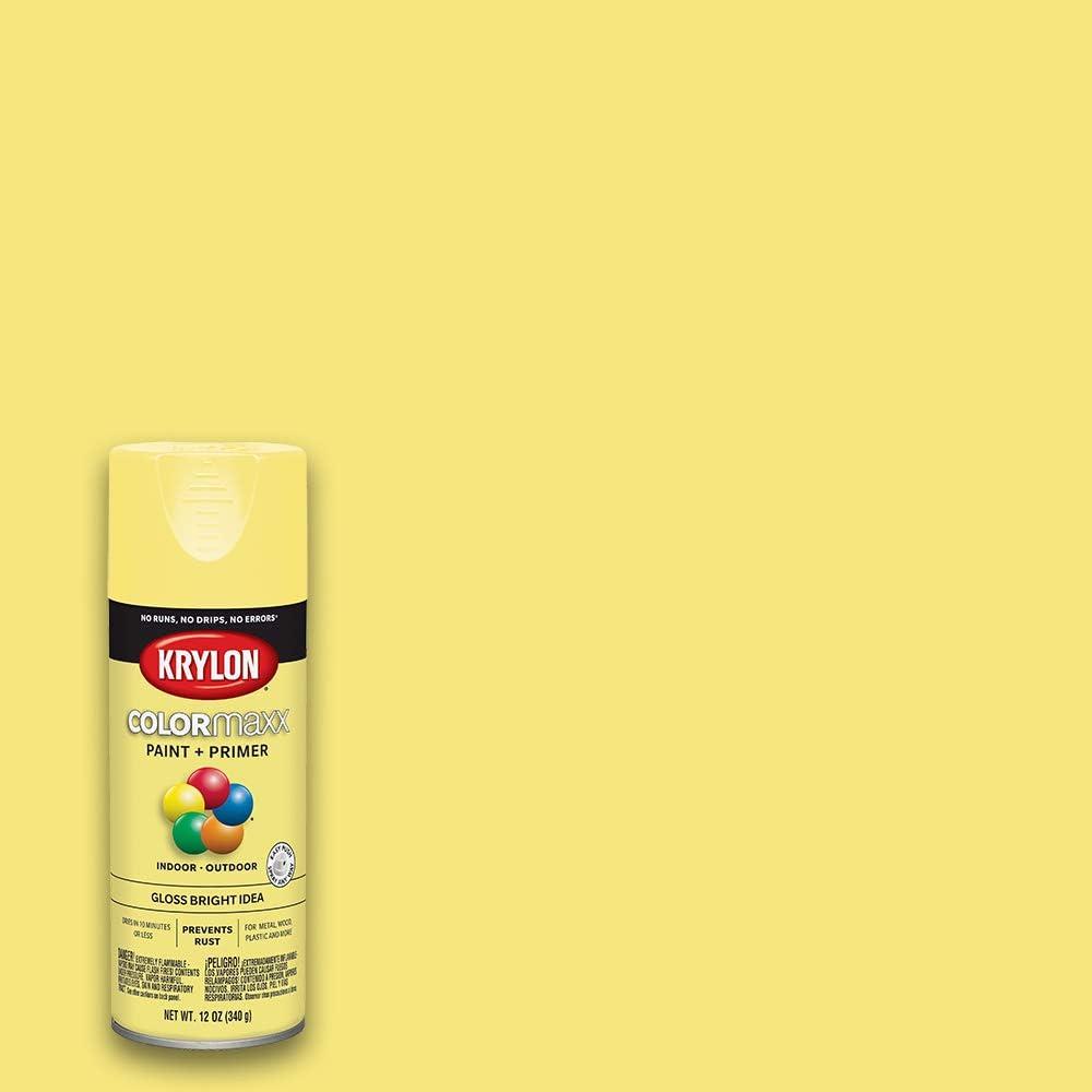 Krylon K05507007 COLORmaxx Spray Paint, Aerosol, Bright Idea