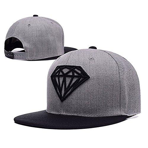 Komerly-TY Diamond Snapback Dual Colour Cap